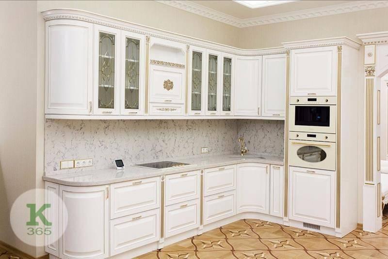 Кухня белая с золотом Варшава артикул: 166465