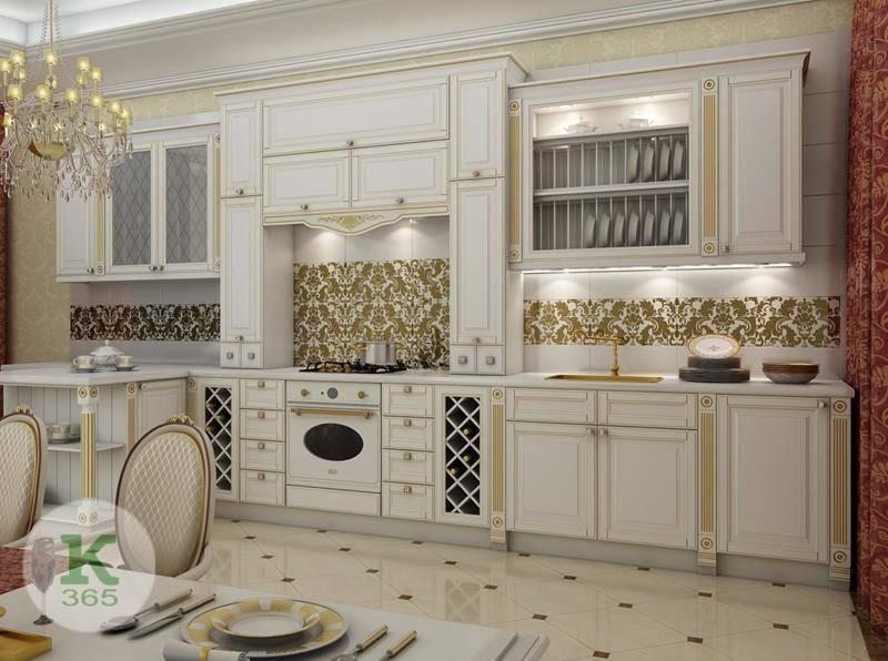 Кухня белая с золотом Рубино артикул: 169945