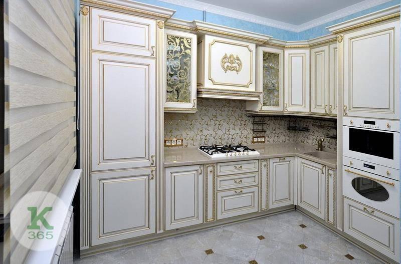 Кухня белая с золотом Вашингтон артикул: 171698