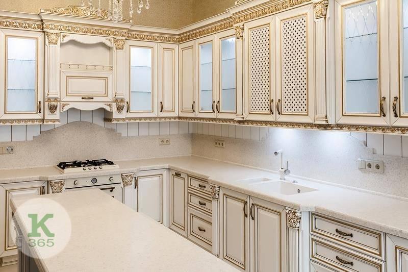 Кухня белая с золотом Линкольн артикул: 172285