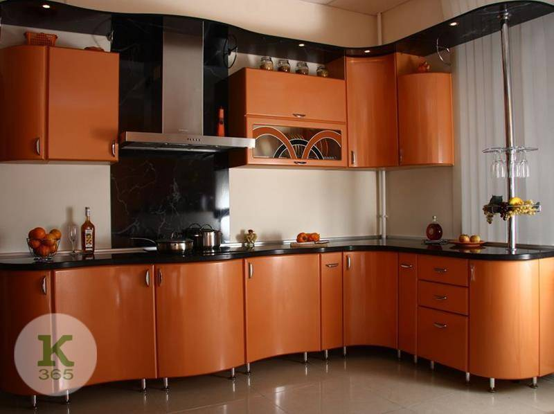 Оранжевая кухня Акварель артикул: 200978