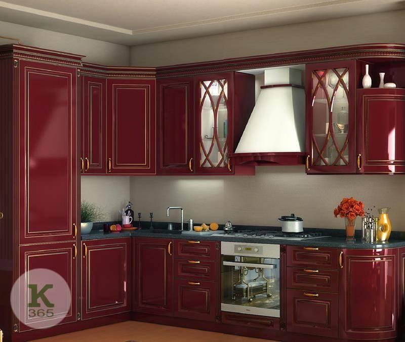 Бордовая кухня Мода артикул: 52488