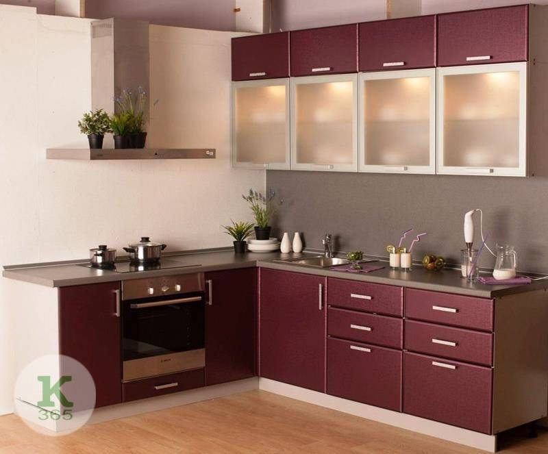 Бордовая кухня Полина артикул: 53138