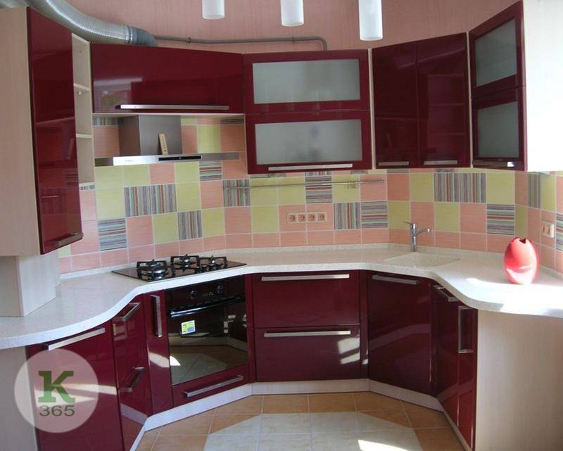 Бордовая кухня Альбина Лора артикул: 53465