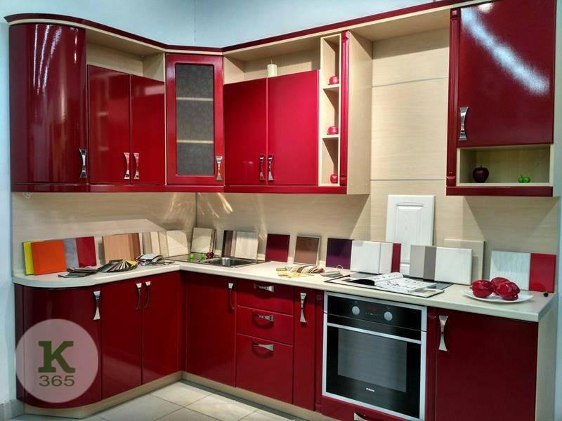Бордовая кухня Флэт артикул: 54781