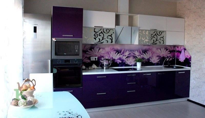 Лиловая кухня Цветы артикул: 00086260